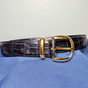 Valerie Stevens Black Leather Belt